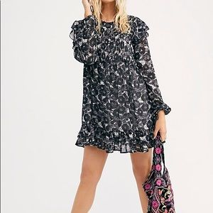 🔥 Free People Long Sleeve Mini Dress NWT